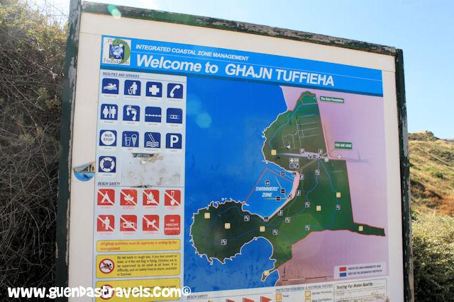 ghajn tuffieha bay sign