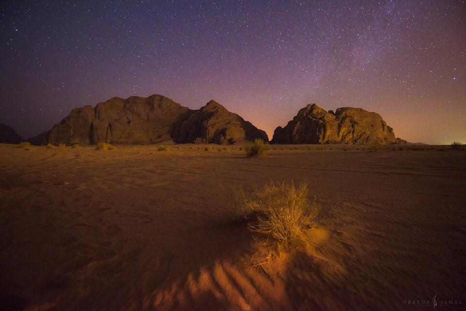 wadi rum desert stars by Obayda Jamal