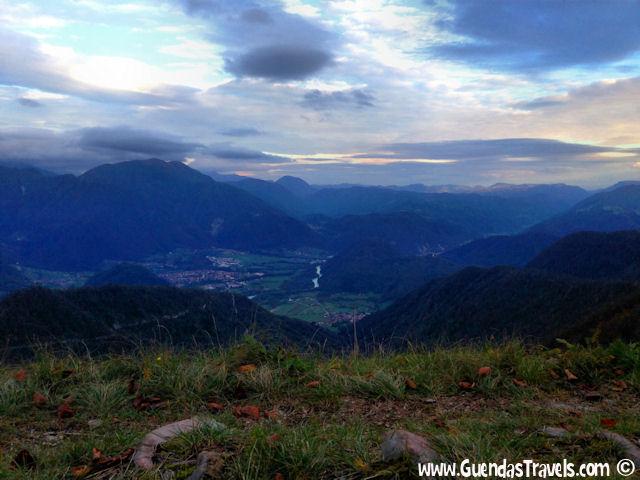 panorama isonzo valley kolovrat