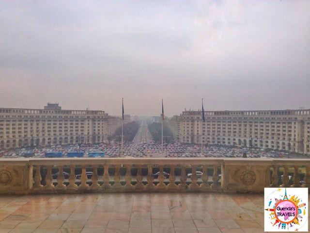 panorama dal parlamento di bucarest