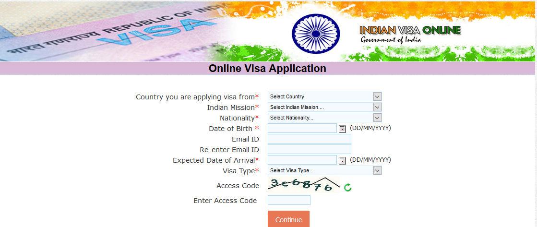 visto india modulo online