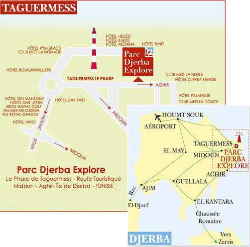 Djerba Explore Map