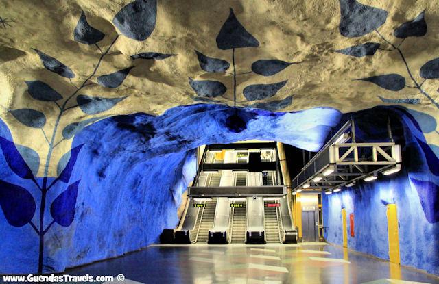 arte nella metropolitana di Stoccolma t-centralen