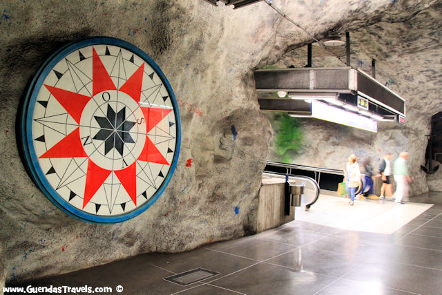 arte nella metropolitana di StoccolmaFriehelmsplan