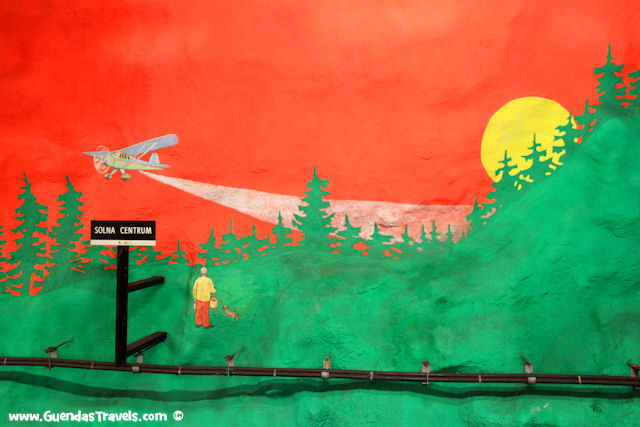 arte nella metropolitana di Stoccolma solna centrum