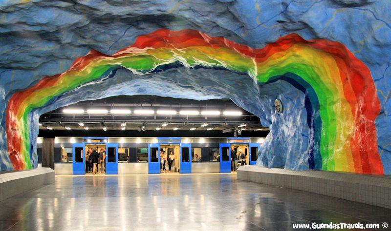 arte nella metropolitana di Stoccolma Stadion