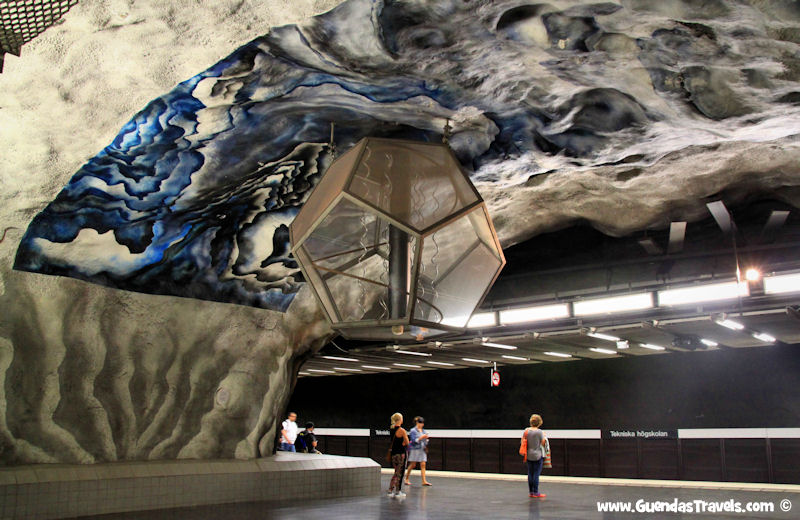 arte nella metropolitana di Stoccolma tekniska