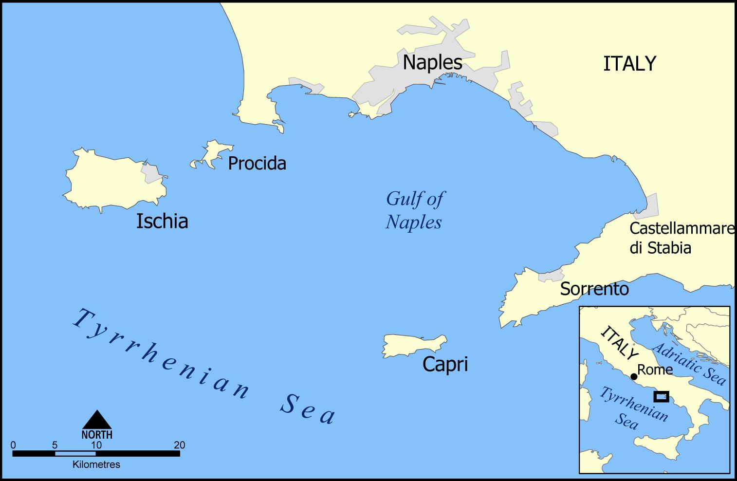 5 cose da fare a Capri mappa