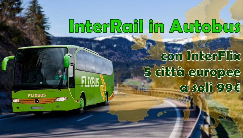 Interrail in autobus con interflix