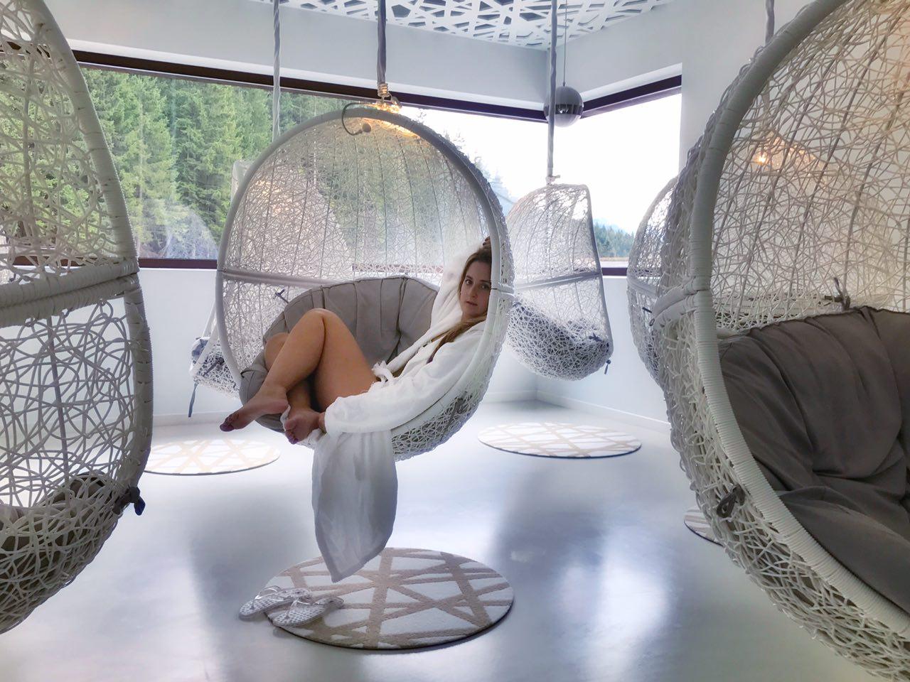 QC Terme Dolomiti sala relax cielo