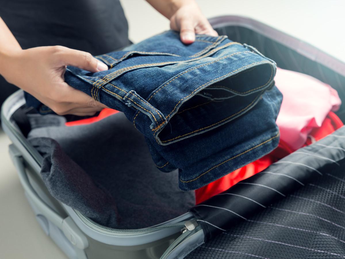 come preparare la valigia jeans
