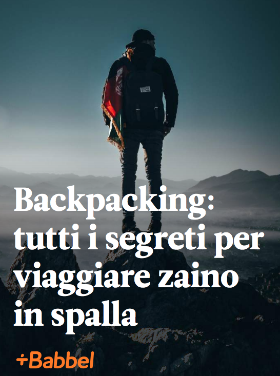 backpacking zaino in spalla