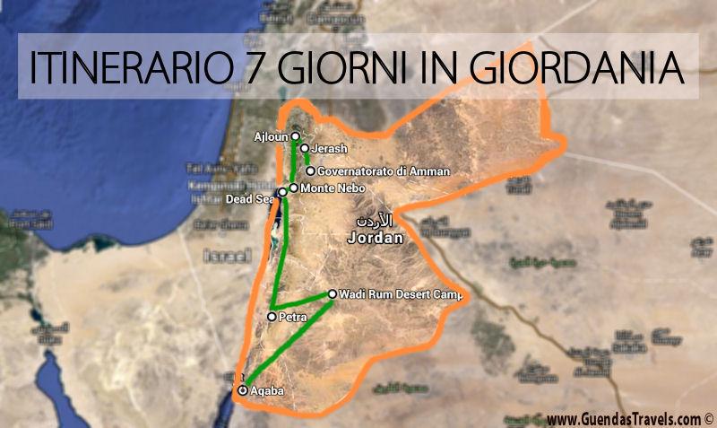 itinerario 7 giorni giordania
