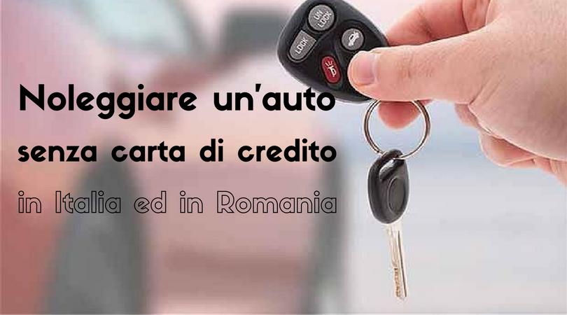 noleggiare un'auto senza carta di credito
