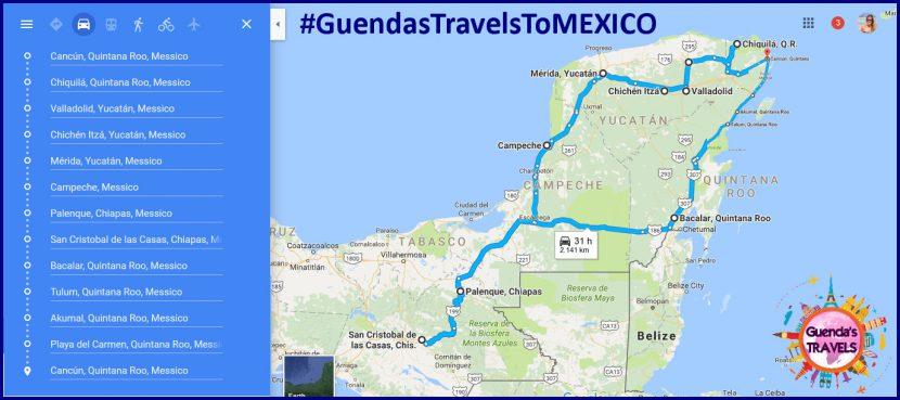 itinerario di 20 giorni in Messico